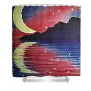 Starry Lake Shower Curtain