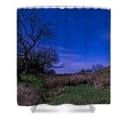 Starry Night Above Hadrians Wall Shower Curtain