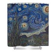 Starry Night Copy 8 Shower Curtain