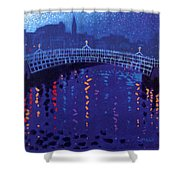 Starry Night In Dublin Shower Curtain