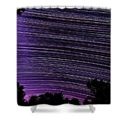 Starry Night In Ithaca New York Star Trail Photography Shower Curtain