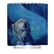 Starry Night Van Gogh Bear Shower Curtain