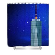 Starry Nights - Wtc One Shower Curtain