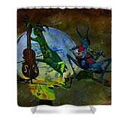 Starry Summer Night Shower Curtain