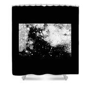 Stars And Cloud-like Forms In A Night Sky Shower Curtain