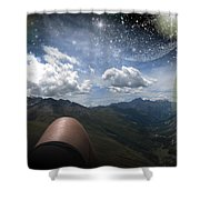 Stars And Planets In A Valley Shower Curtain