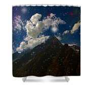 Stars And Planets On Mont Blanc Shower Curtain