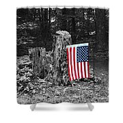 Stars And Stripes With Selective Color Shower Curtain