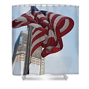 Stars And Stripes And 1 W T  C Shower Curtain