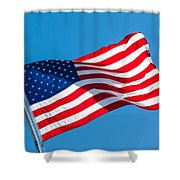Stars And Stripes Waving Shower Curtain