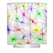 Stars Are The Flowers Of Heaven Shower Curtain