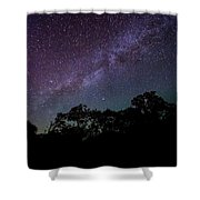 Stars At The Hundred Acre Wood Shower Curtain