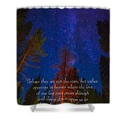 Stars Light Star Bright Fine Art Photography Prints And Inspirational Note Cards Shower Curtain