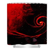 Stars Locked In Immortal Embrace Shower Curtain