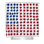 Stars No Stripes Shower Curtain