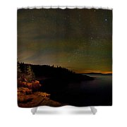 Stars Over Monument Cove 4186 Shower Curtain