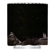 Stars Over Palenque Shower Curtain