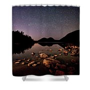 Stars Over The Bubbles Shower Curtain by Brent L Ander
