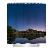 Stars Reflect In Cawfield Quarry Shower Curtain