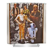 Stars Wars Autographed Movie Poster Shower Curtain