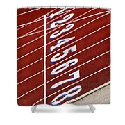 Track Starting Line Shower Curtain