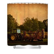 Starting Over - Vintage Country Art Shower Curtain