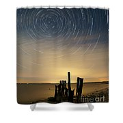 Startrails 2 Shower Curtain