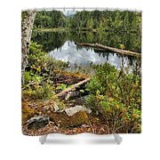Starvation Lake Reflections Shower Curtain