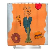 Starving Shower Curtain