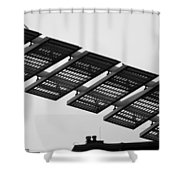 Starway To... In Black And White Shower Curtain