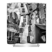 Stata Building 1 Bw Shower Curtain