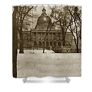 State Building Boston Massachusetts Circa 1900 Shower Curtain