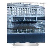 State Capital Fountain Shower Curtain