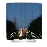 State Capital Plaza Zoomey Shower Curtain