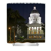 State Capitol At Night Sacramento Shower Curtain