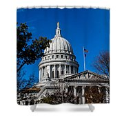 State Capitol In Madison Wi Shower Curtain