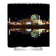 State Fair In Reflection Shower Curtain
