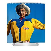 State Fair Of Texas Big Tex Yellow Shower Curtain