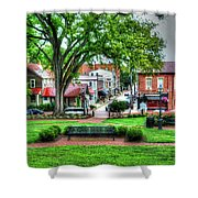 State House Grounds Shower Curtain