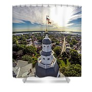 State House Beauty Over Annapolis Shower Curtain