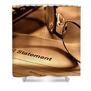 Statement With Glasses Shower Curtain
