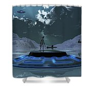Station 211 Alien Nazi Base Located Shower Curtain