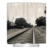 Station In The Distance Shower Curtain