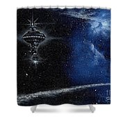 Station In The Stars Shower Curtain