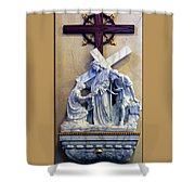 Station Of The Cross 06 Shower Curtain