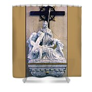 Station Of The Cross 07 Shower Curtain