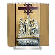 Station Of The Cross 10 Shower Curtain