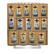 Stations Of The Cross Collage Shower Curtain