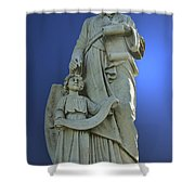 Statue 05 Shower Curtain by Thomas Woolworth