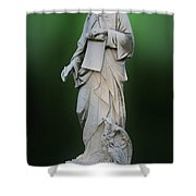 Statue 18 Shower Curtain